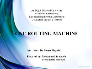 An- Najah  National University Faculty of Engineering Electrical Engineering Department