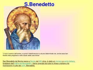 S.Benedetto.