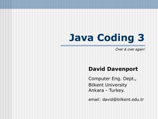 Java Coding 3
