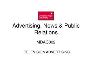 Advertising, News  Public Relations