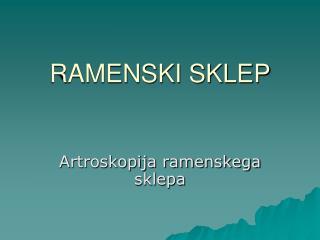 RAMENSKI SKLEP