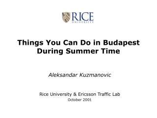Things You Can Do in Budapest During Summer Time