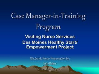 Case Manager-in-Training Program