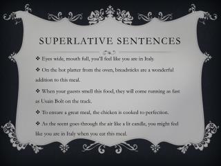 Superlative sentences