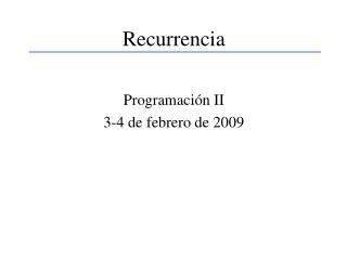 Recurrencia
