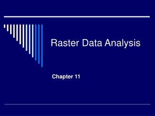 Raster Data Analysis