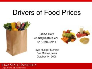 Drivers of Food Prices