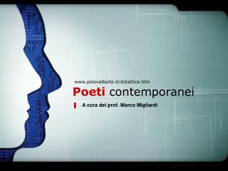 Poeti contemporanei