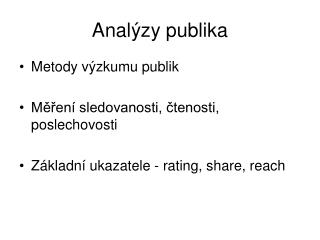 Analýzy publika