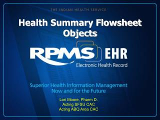 Health Summary Flowsheet Objects
