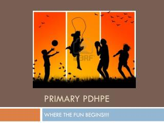 Primary pdhpe