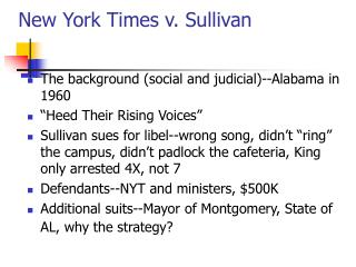 New York Times v. Sullivan