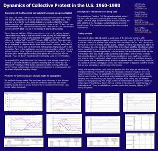 Dynamics of Collective Protest in the U.S. 1960-1980