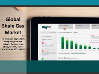 Global Shale Gas Market (Technology, Application, Geography)