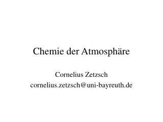 Chemie der Atmosph�re