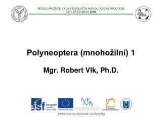 Polyneoptera (mnohožilní)  1 Mgr. Robert Vlk, Ph.D.