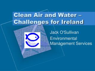 Clean Air and Water   Challenges for Ireland