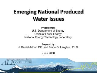Emerging National Produced Water Issues