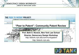 """""""Peer to Patent"""": Community Patent Review"""