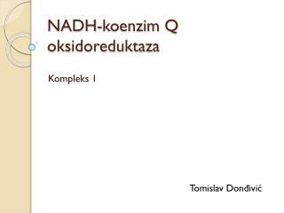 NADH-koenzim Q oksidoreduktaza