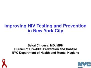 Improving HIV Testing and Prevention in New York City