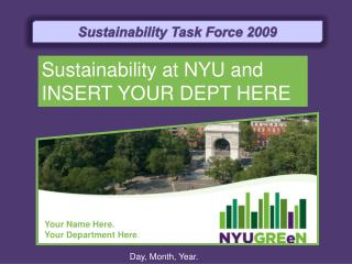 Sustainability Task Force 2009