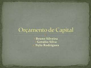 Orçamento de Capital