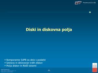 Diski in diskovna polja