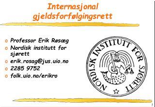 Internasjonal gjeldsforf�lgingsrett