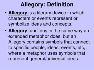 Allegory: Definition