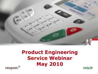 Product Engineering Service  Webinar May 2010