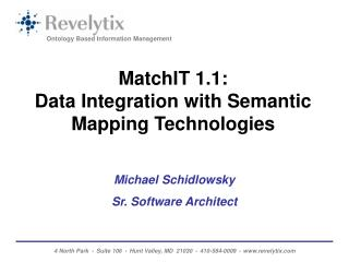 MatchIT 1.1:  Data Integration with Semantic Mapping Technologies