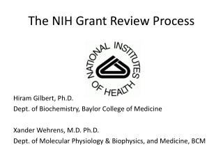 The NIH Grant Review Process