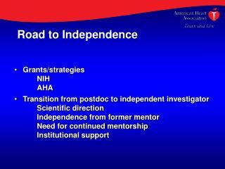 Grants/strategies NIH AHA