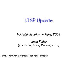 LISP Update