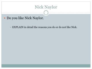 Nick Naylor