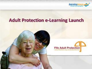 Adult Protection e-Learning Launch
