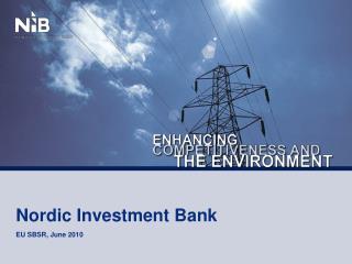 Nordic Investment Bank EU SBSR, June 2010