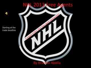 NHL 2013 Free Agents