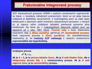 Frakcionálne integrované procesy