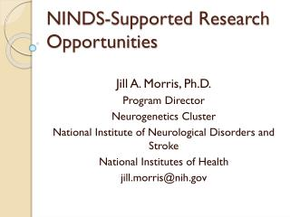 NINDS-Supported Research Opportunities