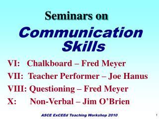 Seminars on