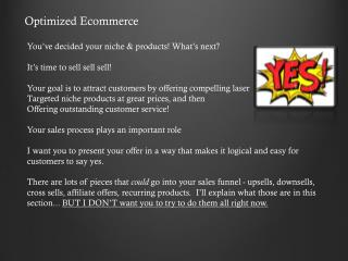 Optimized Ecommerce