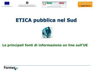 Le principali fonti di informazione on line sull'UE
