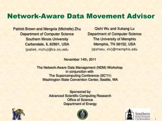 Network-Aware Data Movement Advisor