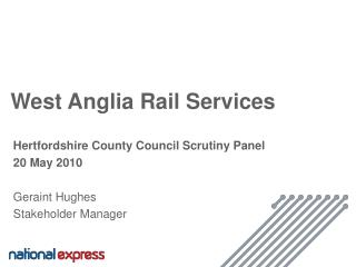 West Anglia Rail Services