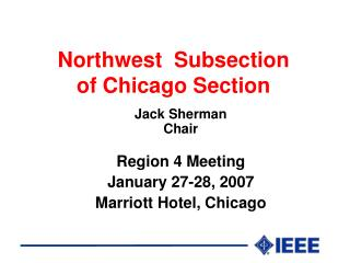 Northwest  Subsection of Chicago Section