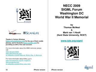 NECC 2009 SIGML Forum Washington DC World War II Memorial by Thomas McNeal & Mark van 't Hooft