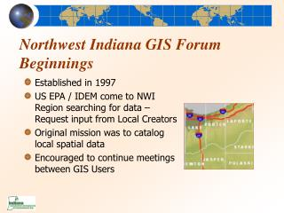 Northwest Indiana GIS Forum Beginnings