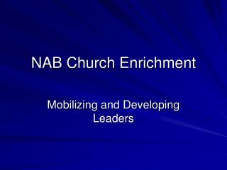 NAB Church Enrichment